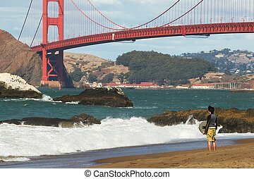 San Francisco Bay - Golden Gate Bridge and San Francisco Bay...