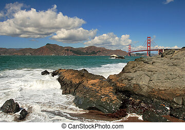 San Francisco Bay - San Francisco Bay and Golden Gate Bridge...