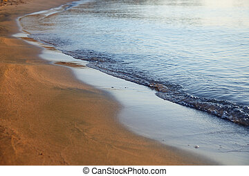 Beuty of the nature - Sea coastline with wet sand Natural...