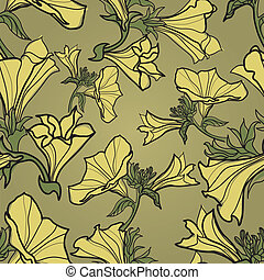 """Vector bell-flowers pattern (from my big \""""Floral..."""