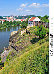 Prague, Vysehrad - Fortress Vysehrad, the oldest place in...