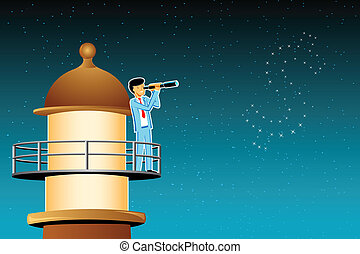 Business Oppurtunity - illustration of businessman searching...