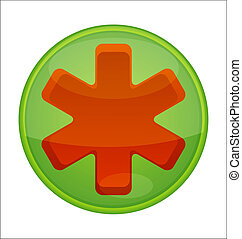medic symbol emergency red color