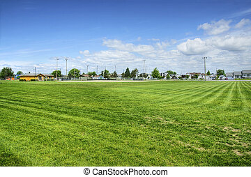 Baseball field hdr - View from the center field position of...