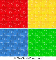 Seamless puzzle backgrounds