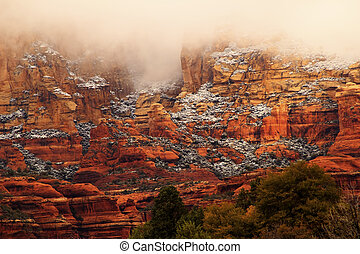 Boynton Red Rock Canyon Snow Clouds Sedona Arizona - Boynton...