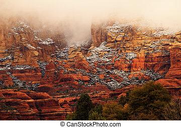 Boynton Red Rock Canyon Snow Clouds Sedona Arizona - Boynton...
