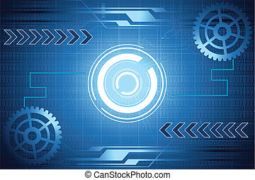 Abstract Background - illustration of abstract mechanical...