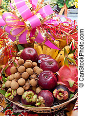 fruits gifts - a picture of fruits in a gift set