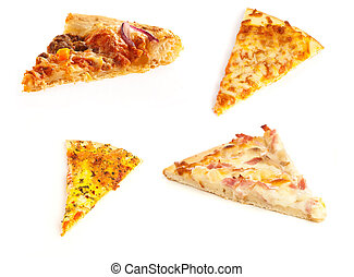 Porções,  pizza