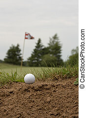 Sand Trap - Golf ball just stays out on the sand hazard