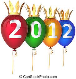 Royal 2012 New Year balloons