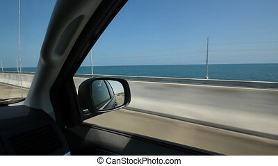 Driving. Florida Keys.
