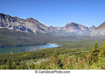 Scenic landscape in rockys - Scenic landscape of Glacier...