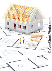 Building house - Building the house concept - model of the...
