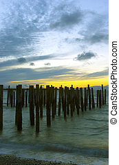 Old Cannery - Remnants of an old cannery pier at twighlight.