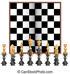 Chess Figure with Board