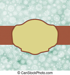 Blue vintage christmas background. EPS 8 vector file...