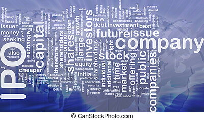 Company IPO background concept - Background concept...