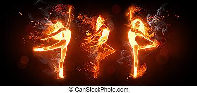 fogo, dança