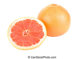 Grapefruits  isolation on  white
