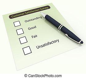 3d pen and survey questionnaire - 3d pen on the background...