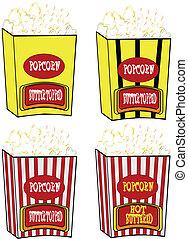 popcorn retro style