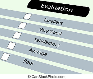 Evluation questionnaire - Closeup of evaluation...