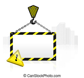 crane hook with blank poster - Crane hook with blank poster...