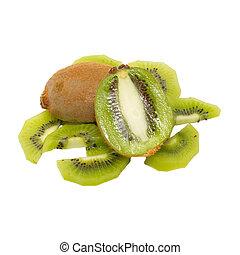 Fresh kiwi isolated on white.