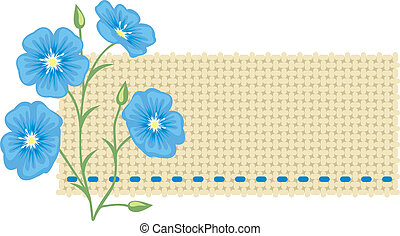 Flax flower and a piece of linen.