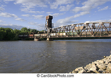 Hastings Railroad Lift Bridge - Railroad vertical lift...