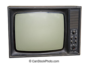 Vintage TV - Vintagage russian TV isolated on the white