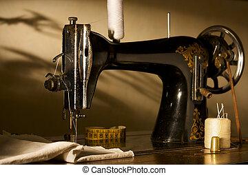 antigüidade, máquina, Cosendo