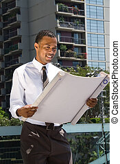 Black Male Architect - A male Africian American architect...