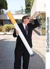 Anti Smoking man - A man symbolizes an anti-smoking gesture...