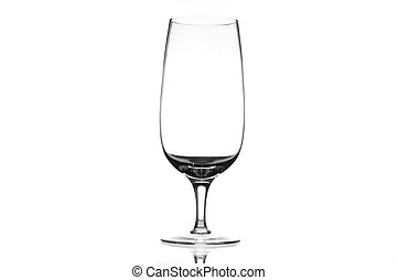 Chrystal beer glass - Single chrystal beer glass over white...