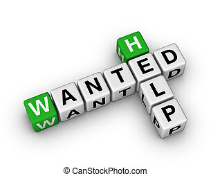 Help Wanted crossword sign
