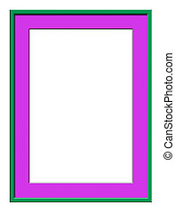 Picture Frame - A picture frame created in Photoshop has two...