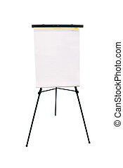 Flip chart pad and easel - A blank flip chart pad and easel...