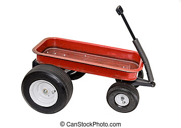 Red wagon - A souped up red wagon isolated on white