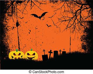 grunge halloween background - Grunge style Halloween...