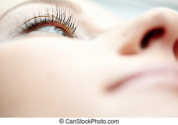 Eye - Close-up photo of the woman eye. Shallow depth of...