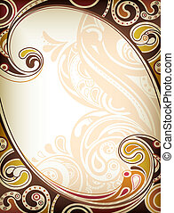 Abstract Frame Background - Illustration of abstract floral...