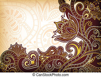 Asia Floral - Illustration of abstract floral background.