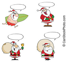 Santa Claus Collection - Collection Of Santa Claus On...