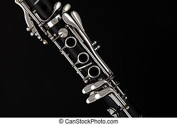 女高音, 單簧管, 被隔离, o, 黑色