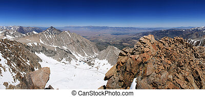 Owens Valley - view down into the Owens Valley from the...
