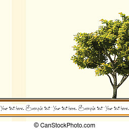 Card with stylized tree. Vector