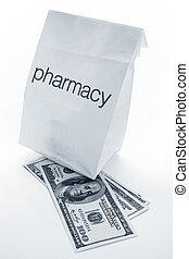 farmácia, saco